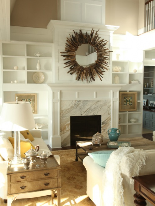 Oturma Odası İçin Ayna Dekorasyon Fikirleri